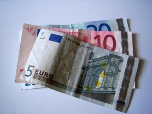 Geldscheine - 5 Euro - 10 Euro und 20 Euro