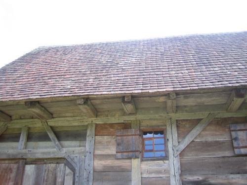 Dach eines Bauernhauses