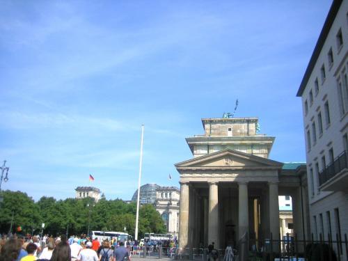 Brandenburger Tor von der Seiten