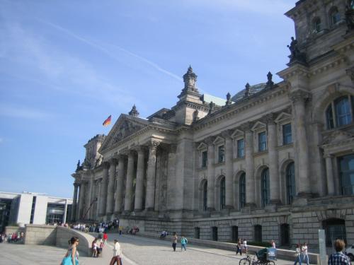 Reichstagsgebäude von der Seiten